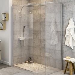 Kabina prysznicowa walk-in Cooke&Lewis Beloya 80 cm chrom/transparentna