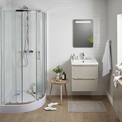 Kabina prysznicowa półokrągła Cooke&Lewis Beloya 80 x 80 x 195 cm chrom/transparentna