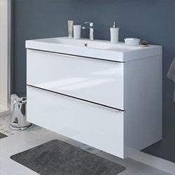 Szafka pod umywalkę Cooke&Lewis Imandra wisząca 100 cm biała