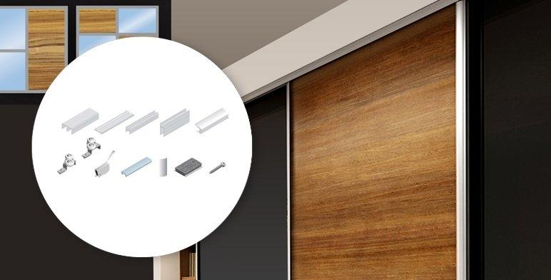 Zestaw do drzwi przesuwnych 3-skrzydłowych Valcomp PRO-meteusz 3000 mm srebrny