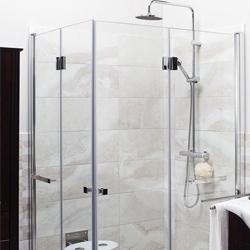 Drzwi prysznicowe składane Cooke&Lewis Beloya 90 cm chrom/transparentne