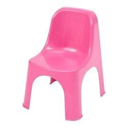 Różowe krzesełko ogrodowe Castorama