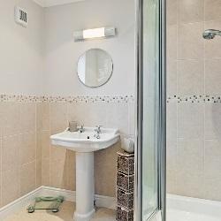 łazienka w stylu fitness
