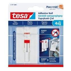 Gwoździe samoprzylepne Tesa regulowane do płytek udźwig 4 kg 2 szt.