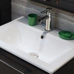 Umywalka wpuszczana Faros ceramiczna 60 x 45 cm biała