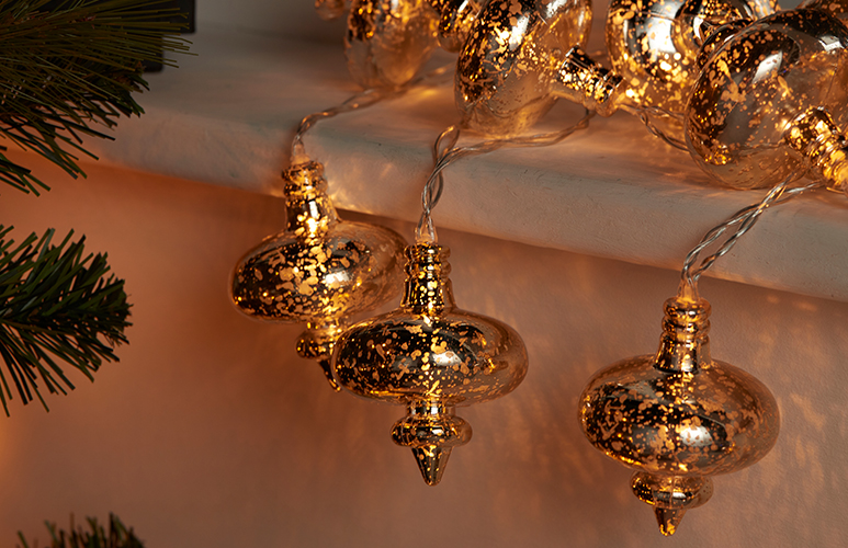Lampki bombki ozdobne 16 LED