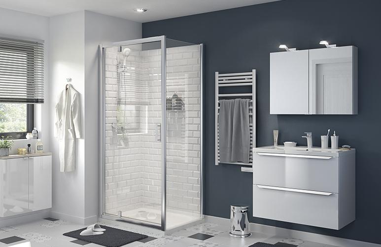 Drzwi prysznicowe wahadłowe GoodHome Beloya