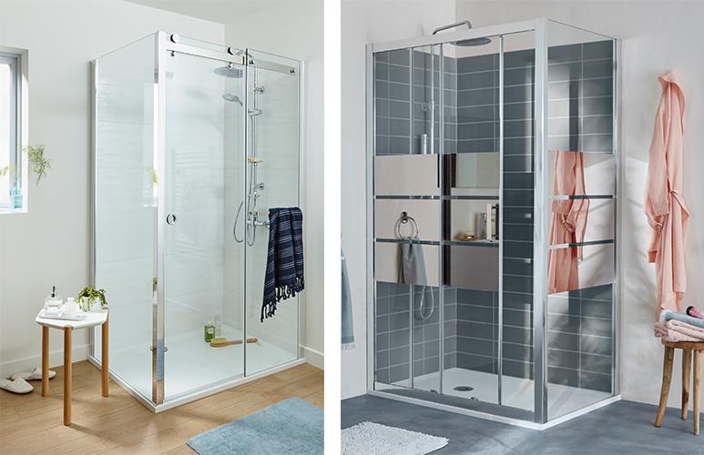 Drzwi prysznicowe przesuwne GoodHome Naya Beloya