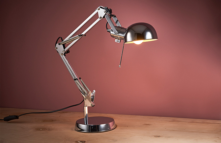 LAMPKA BIURKOWA COLOURS DROIDE 1 X 40 W E14 CHROM