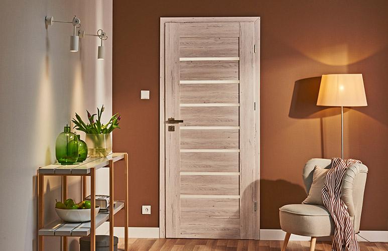Drzwi pokojowe Winfloor Minoris 80 prawe silver