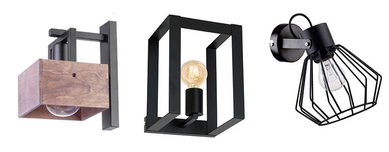 kinkiety oświetlenie loftowe