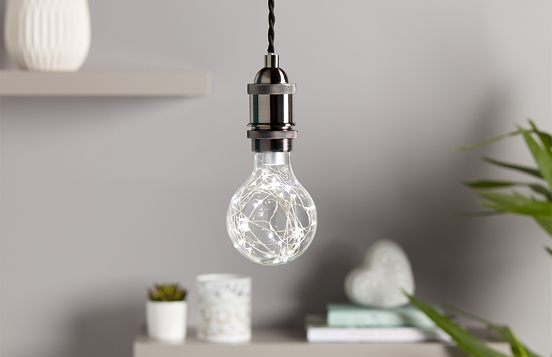 Żarówka LED Diall A90 E27 0,8 W 10 lm girlanda przezroczysta barwa zimna