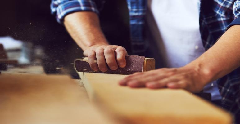 wygładzanie drewna