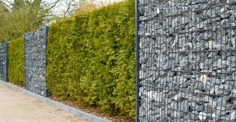 ogrodzenie z kamienia - gabiony