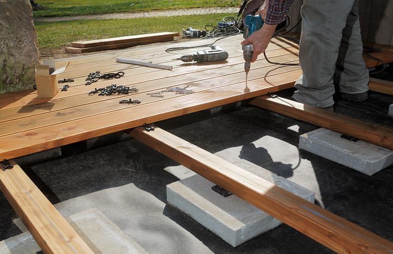jak zrobić taras drewniany