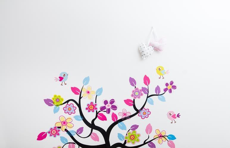 naklejki na ścianę kwiaty