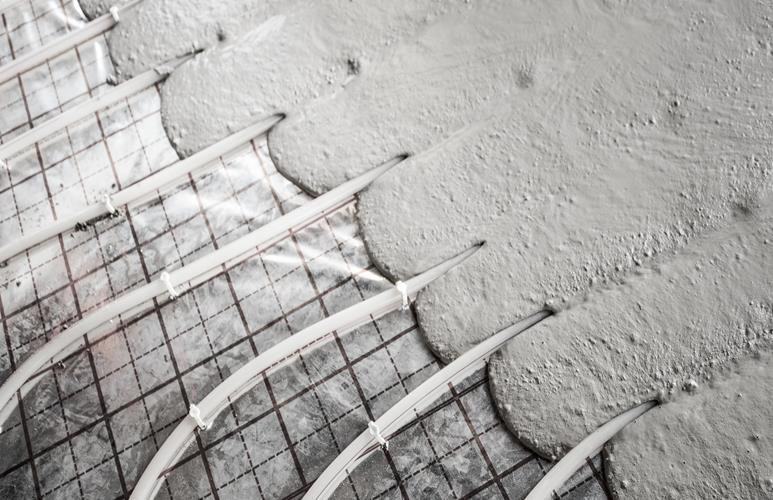 wylewka betonowa na ogrzewanie podłogowe
