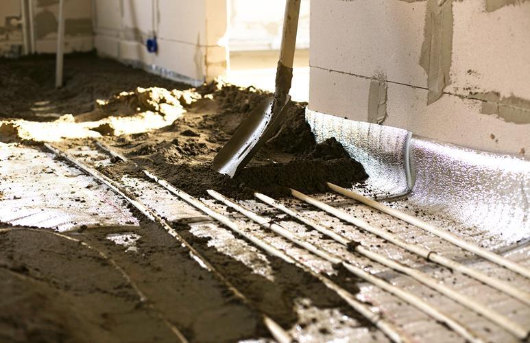 wylewka na ogrzewanie podłogowe