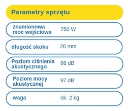 wyrzynarka Erbauer - parametry