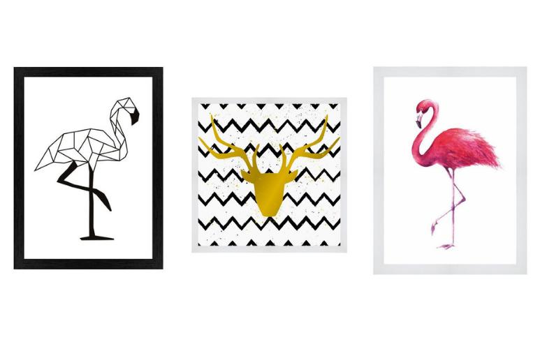 obrazy flamingi