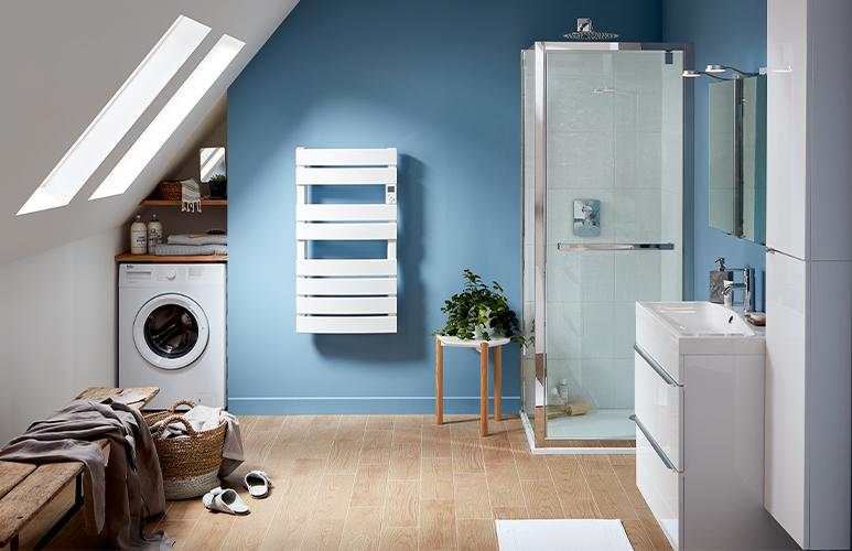 Drzwi prysznicowe wahadłowe Zilia 80 x 200 cm inox/szkło transparentne