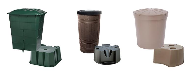 zestaw zbiornik na deszczówkę z podstawką