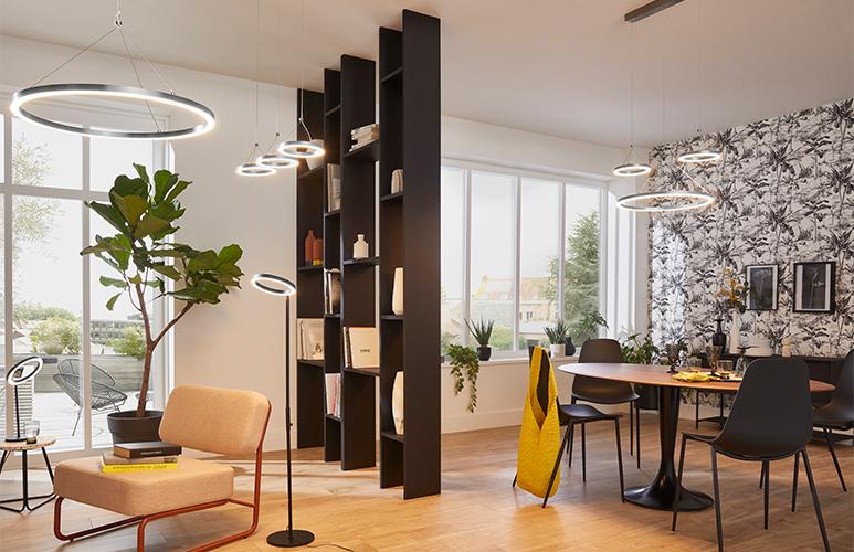 Lampa wisząca LED GoodHome Taphao 1-punktowa chrom
