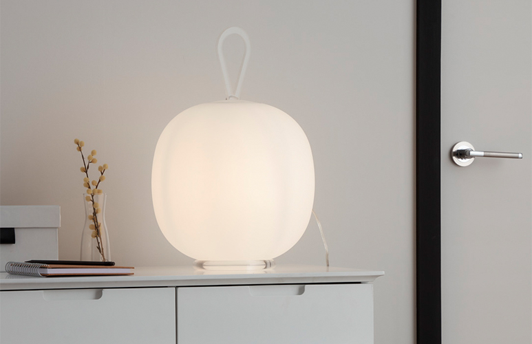 Lampa stołowa GoodHome Armanty 1-punktowa E27 biała