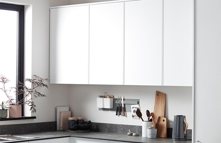 Front kuchenny do szafki wiszącej wysokiej GoodHome Pasilla 50 cm biały mat