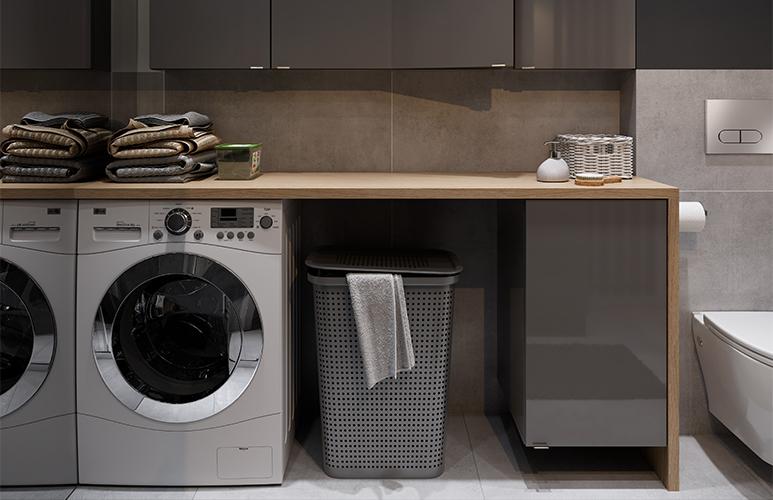 Szafka pod umywalkę GoodHome Imandra wisząca 44 cm antracyt