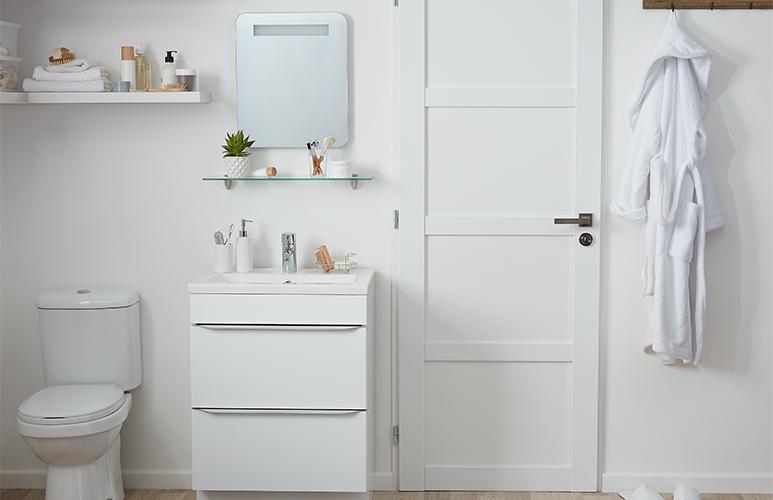 Szafka pod umywalkę GoodHome Imandra stojąca 60 cm biała