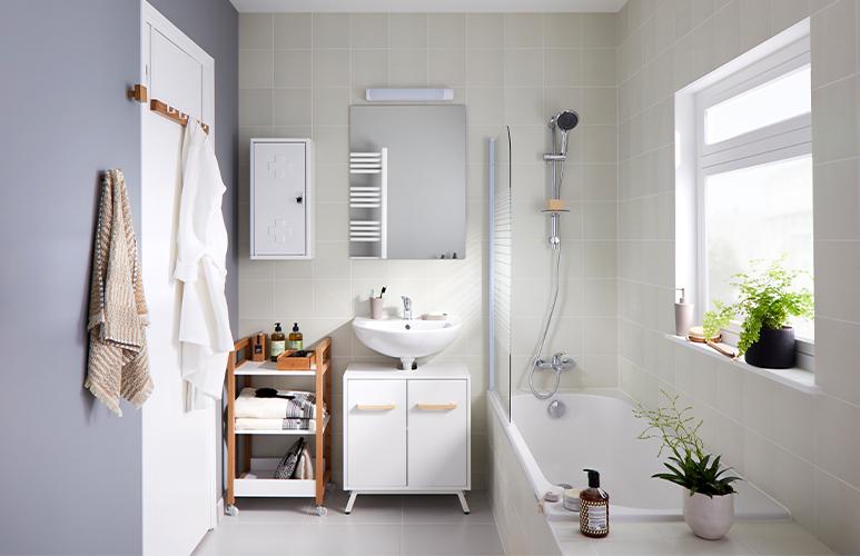 Szafka pod umywalkę GoodHome Ladoga 60 x 36 x 54 cm biała