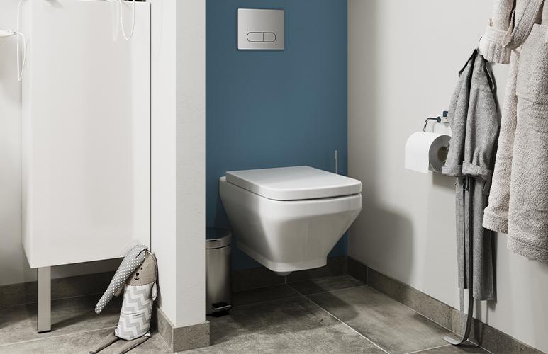 Miska WC wisząca GoodHome Teesta bezkołnierzowa z deską wolnoopadającą