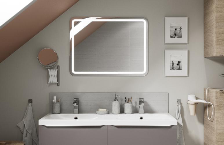 Lustro prostokątne Cooke&Lewis Charlestown 60 x 80 cm z oświetleniem LED