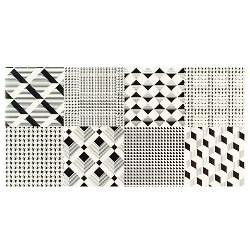 geometryczne wzory w łazience