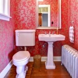 Aranżacja łazienki Tapeta Jako Główny Element Dekoracji