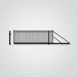 Brama przesuwna Londyn 400 x 154 cm prawa