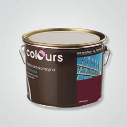Farba antykorozyjna Colours wiśniowa 2,5 l