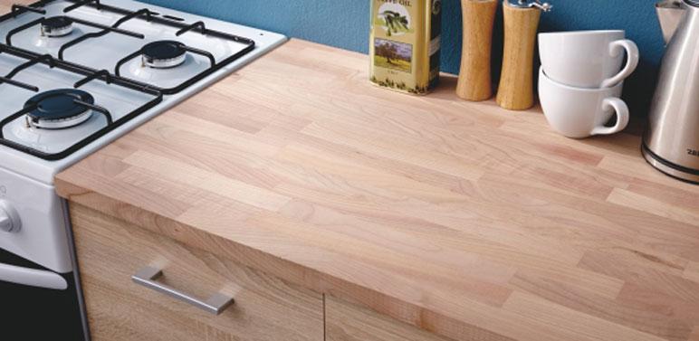 Blat drewniany bukowy 27 x 600 x 2100 mm