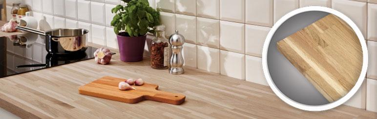 Blat drewniany dębowy 302 x 60 x 2,7 cm