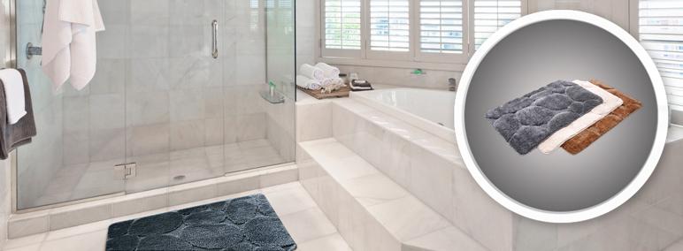 Dywanik łazienkowy Cooke&Lewis Eldorado 50 x 70 cm szary