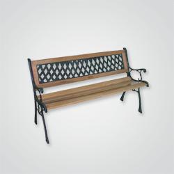 Ławka żeliwno-drzewna prosta OPP
