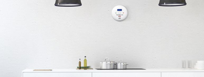 Sygnalizator czadu Eura CD-28A2 z wyświetlaczem LCD