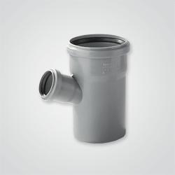 925121 Trojnik kanalizacyjny 45 st. 110 50 mm szary