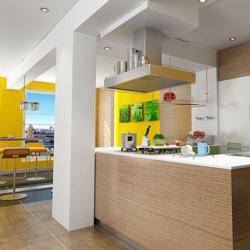 kolumna w otwartej kuchni