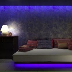neon w sypialni