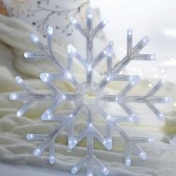 ozdoba płatek śniegu led