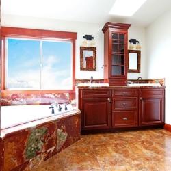 podłoga z korka w łaziece
