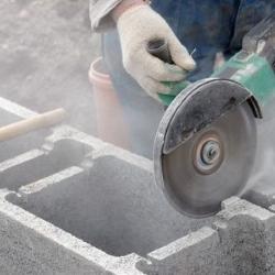 cięcie bloczków betonowych