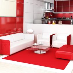 czerwień w pomieszczeniu